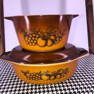 Pyrex Old Orchard Baking Set-043 & 473-Price Firm